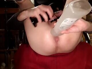 Anal balls and buttplug fucking prolapsed ass
