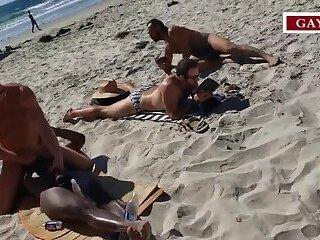 Amateurs fucking in the Public Beach #1