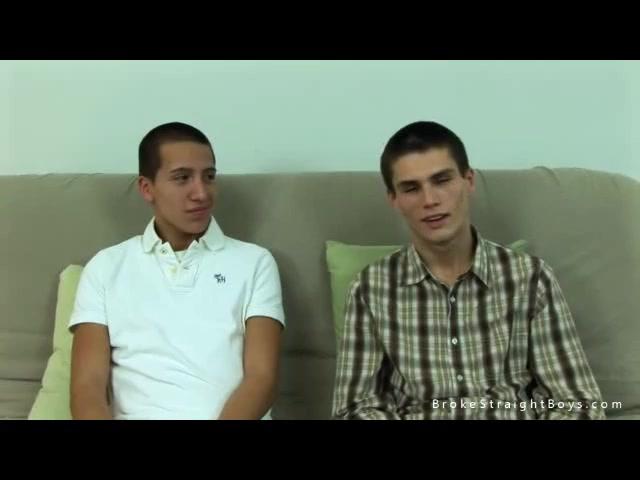 Straight teen boys wank together