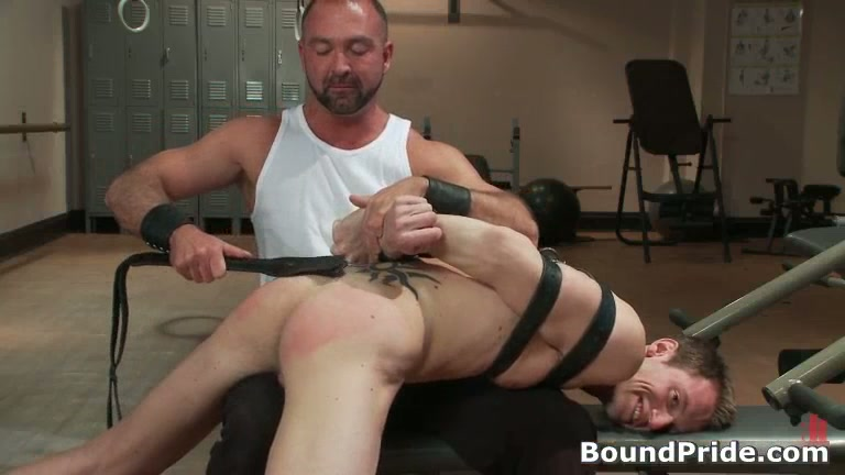 Josh gets bound and ass slapped gay bdsm clip