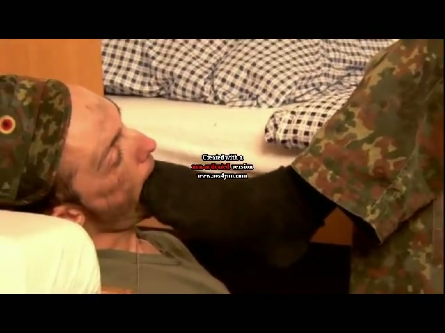 Military gay licking feet mp4