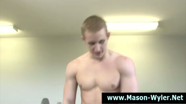 Porn hunk stud mason wyler plays with cock