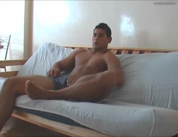 Luscious twink whacking off