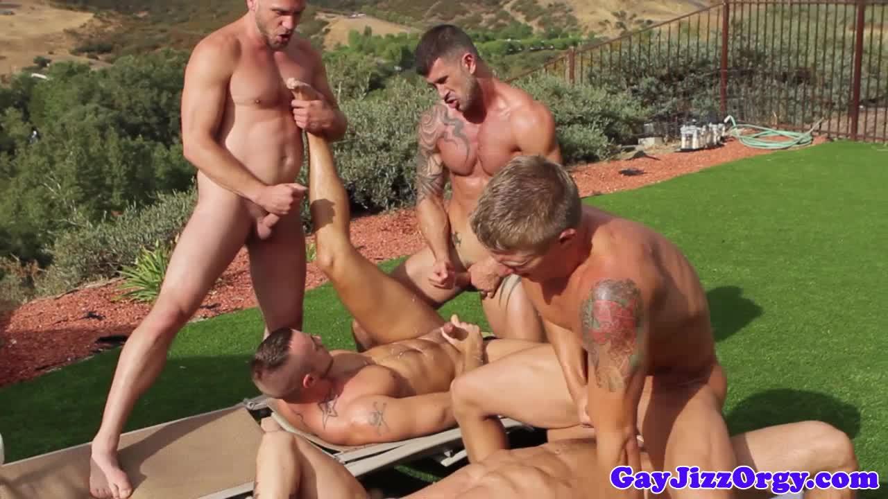 Outdoor orgy climax on trenton ducati
