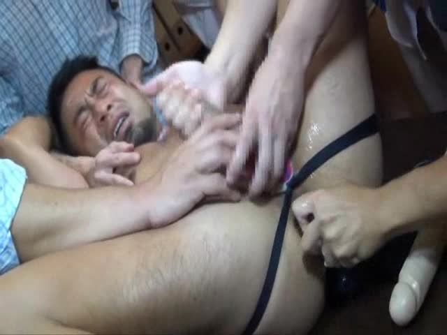 gay gang bang fuck pain orgasm