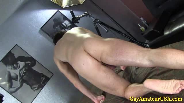 gayamateur jock gets ass toyed