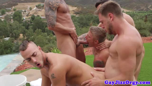 Groupsex hunks assfucking orgy outdoors