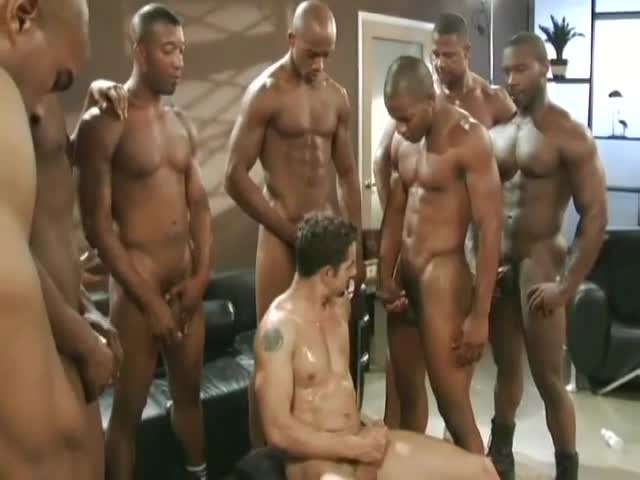 Gay interracial gangbang