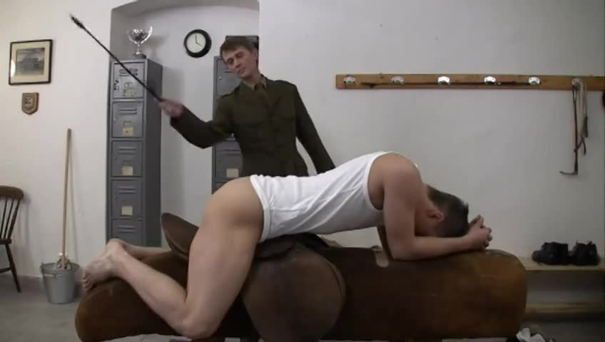 Gay male spanking video