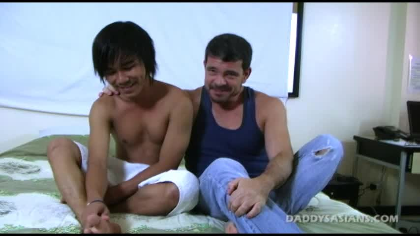 Big daddy mike fucks cute asian twink aries