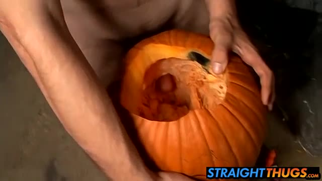 Billy And Chain Carves Holes On Pumpkin And Fucks