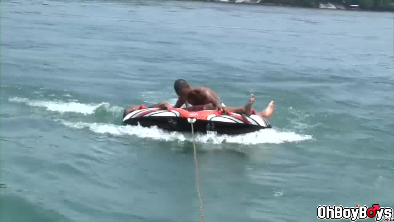 Deep throat blowjob on lifeboat and on dock fuck