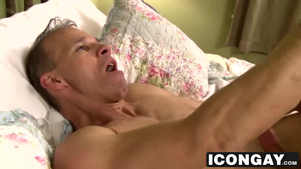 Cums on back