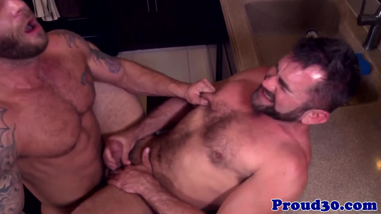 Mature hunk rims bear before assfucking