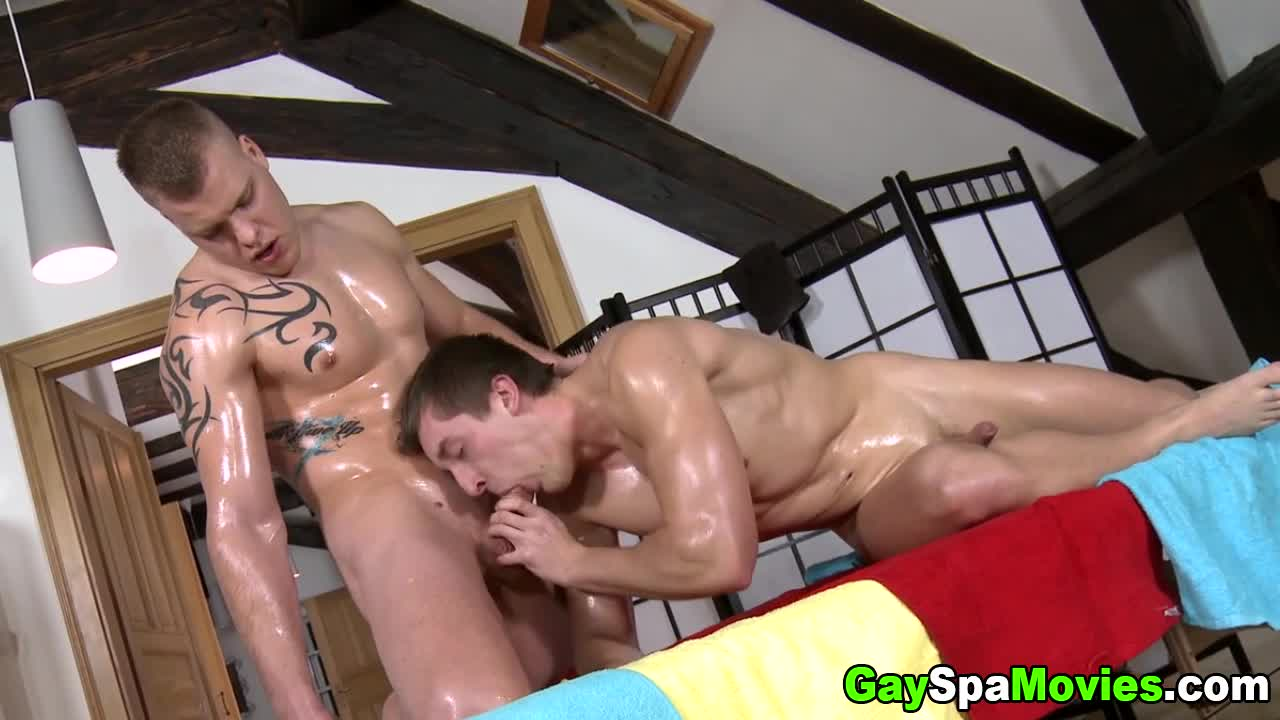 Sexy hunk is delighting cute gay with wild oral