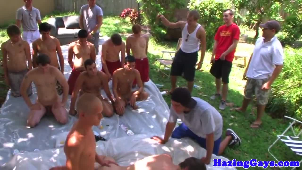 Dicksucking fraternity twink buttfucked
