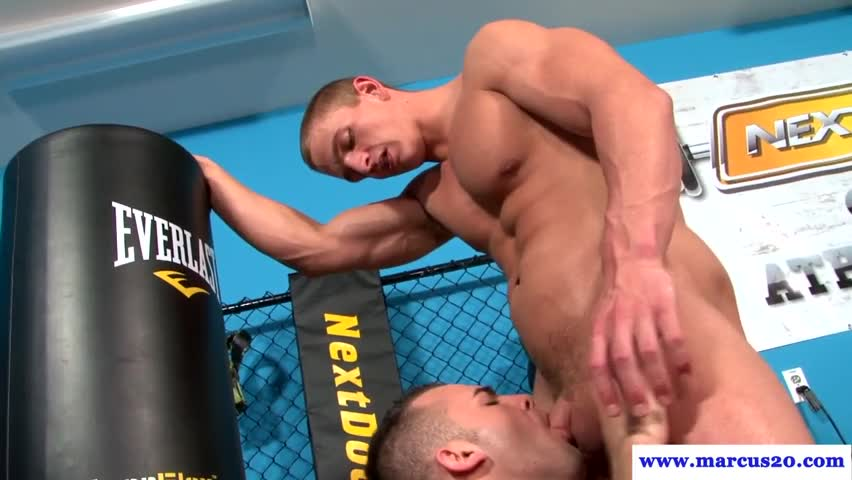 Straight muscular bottom fucked in octagon