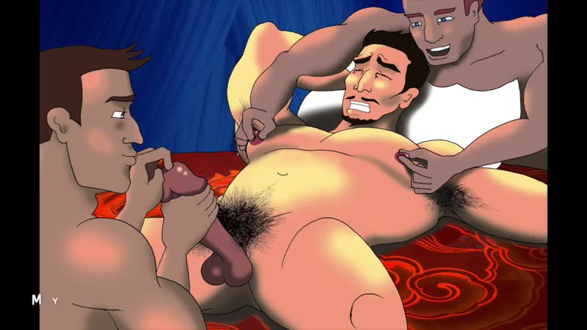 Gay anal sex cartoon