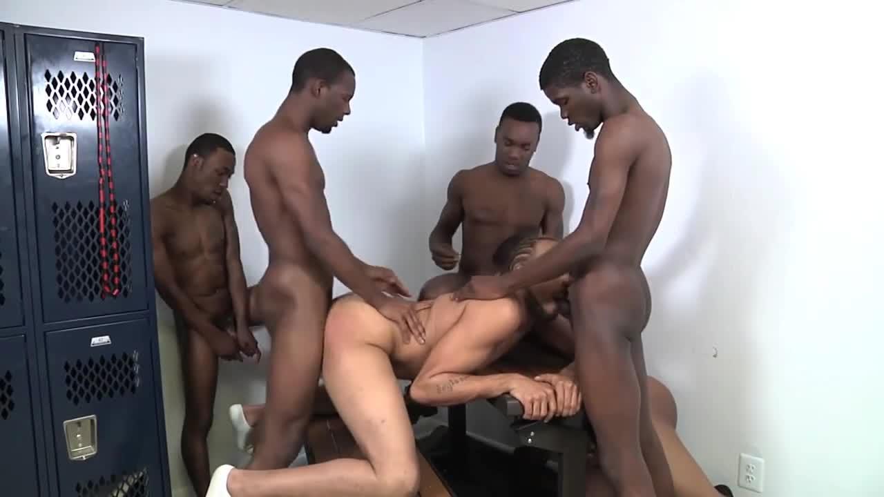 Sucking strong adult black men gang banging white men porn