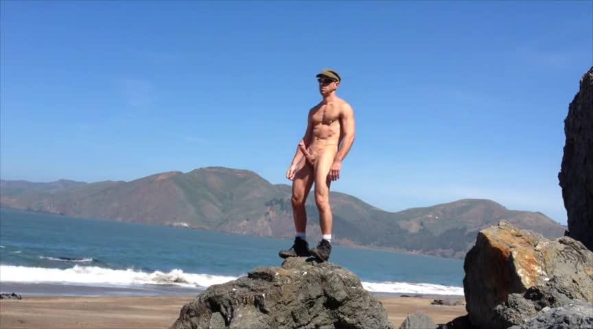 Beach Jack Off Xxl Boner Squirt