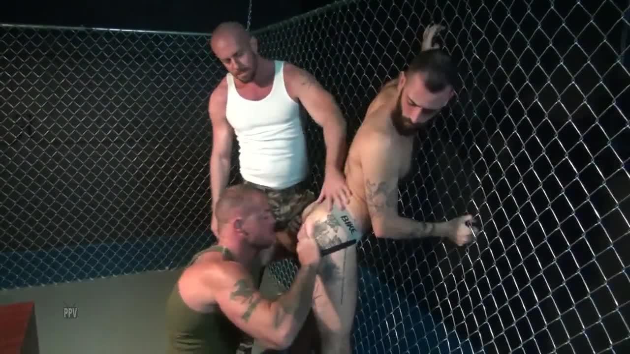 gaytanamo bushy muscle bare prison three some