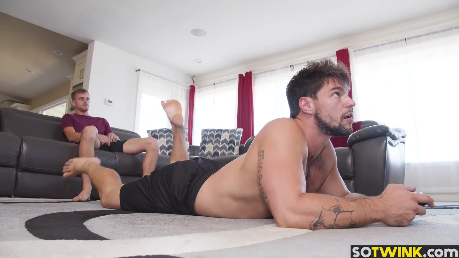 Alex Blake Joystick Porn hunk inserts his big joystick inside stepbros asshole